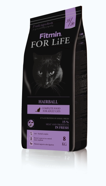 Fitmin Cat For Life Hairball 2 x 8 kg
