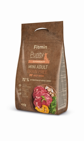 Fitmin dog Purity GF Adult Mini Beef 4 kg